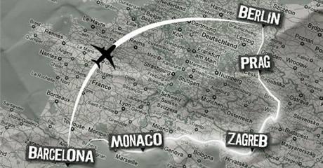 Mapa letošního ročníku závodu Berlin Vicerally
