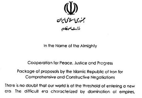 Dokument, který Íránci předali jaderným mocnostem