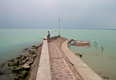 Maďarsko, Balaton - rybář