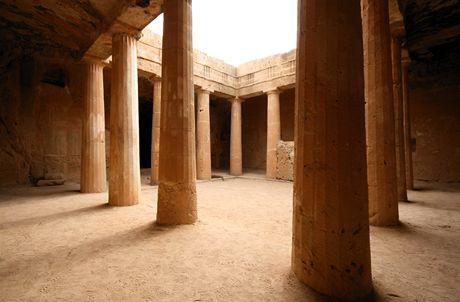 Kypr, hrobky králů v městečku Pafos