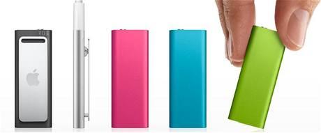 Nový iPod shuffle přichází s novými barvami