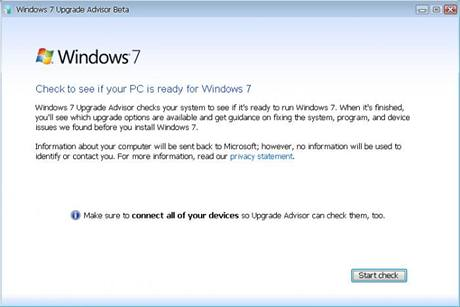 Windows 7 Upgrade Advisor 1.0 Beta