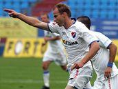 Ostrava: obránce René Bolf se raduje z gólu