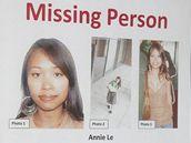 Portrét hledané studentky Annie Le