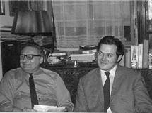 Dušan Slávik se synem, 1974