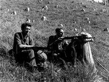 Dušan Slávik na hlídce, srpen 1944