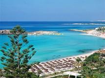 Kypr, pláž Nissi