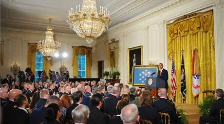 Obama využil do dnešního dne s manželkou Michelle Východní pokoj více než šedesátkrát.