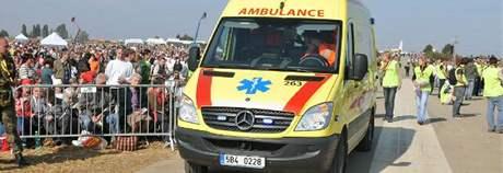 Záchranáři na tuřanském letišti
