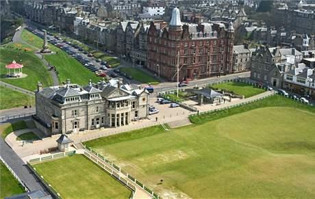 Klubovna historického St. Andrews -
