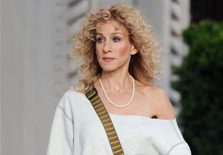 Z natáčení filmu Sex ve městě 2 - S.J.Parkerová ve stylu osmdesátek