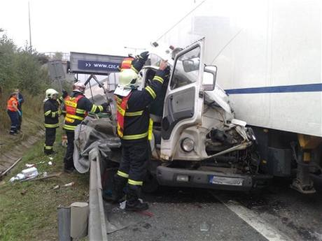 Nehoda na Jižní spojce za Lanovým mostem (24.9.2009)