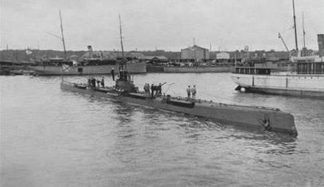 Ruská ponorka Gepard z první světové války.