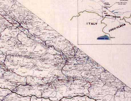 Útěková cesta ze Salzburgu do jugoslávské (nyní slovinské) Mojstrany. Tudy uprchlí vojáci utíkali.