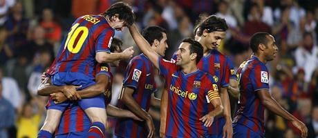 Barcelona - Atlético Madrid: barcelonská radost