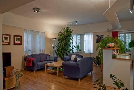 Obývák a kuchyně před rekonstrukcí