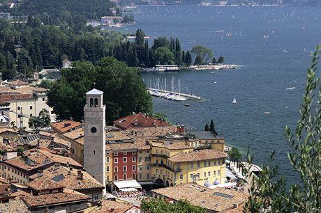 Itálie, Lago di Garda, lázeňské městečko Riva del Garda