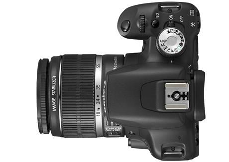 Digitální zrcadlovka Canon EOS 500D - horní část