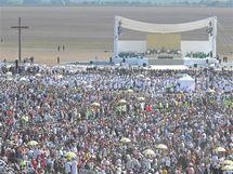Letiště Tuřany, návštěva papeže Benedikta XVI v Brně (27. 9. 2009)