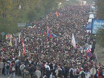 Do areálu papežovy mše v Tuřanech proudily tisíce lidí