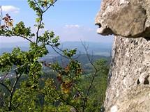 Slovensko, Súľovský hrad - pohled z okna
