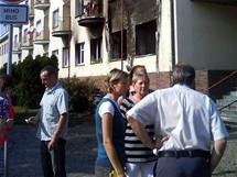 Dům byl po výbuchu evakuován.