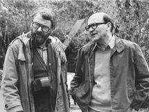 Karel Reisz (vlevo) a John Fowles