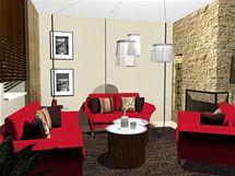 Jak zařídit obývací pokoj s červenou pohovkou