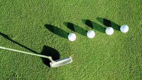 Golf - ilustrační, putter.