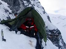 Češi na Cho Oyu. Kamil v útočném stanu - 6950 m