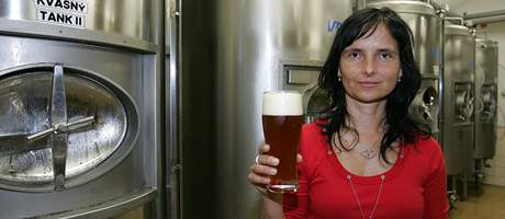 Provozní Zámeckého pivovaru v Oslavanech Dana Prudíková