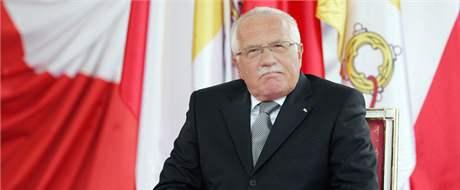 Václav Klaus při setkání s papežem.