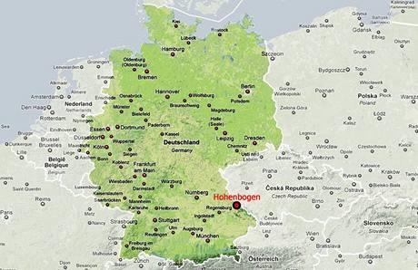 Bývalá vojenská základna v německém Hohenbogenu.