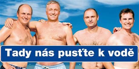 """Plakát ODS """"Tady nás pusťte k vodě"""""""