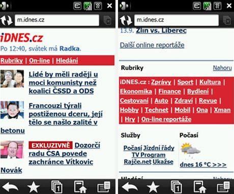 Nový iDNES.cz pro mobily - m.idnes.cz