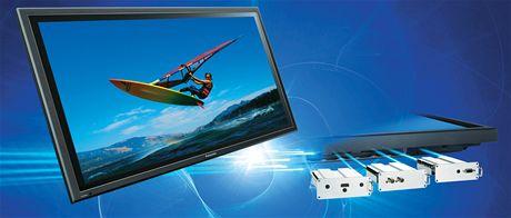 Plazma Panasonic - typy vstupů lze libovolně měnit díky vyměnitelným modulům