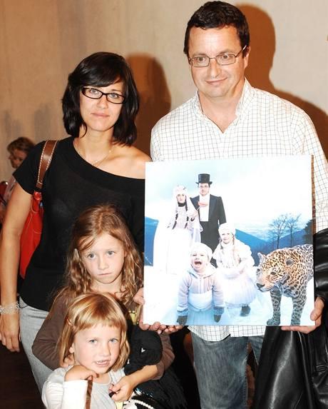 Michal Viewegh s rodinou