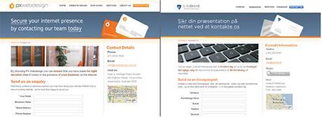 Webdesign se kopíruje celkem běžně, tady však jde o webdesignérské studio...
