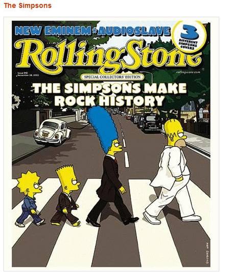 Kopírování nápadu může být i zajímavé - ikonickou fotografii Abbey Road se členy skupiny Beatles rozpoznáme kdykoli, zde se jí inspirovali Simpsoni