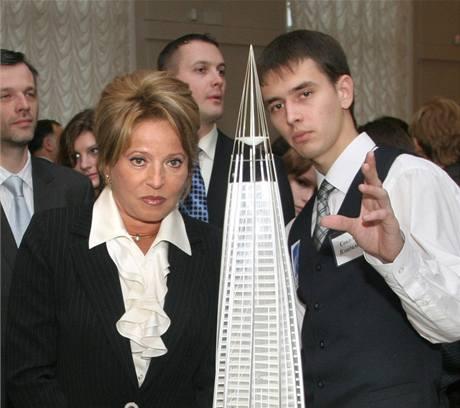 Mrakodrap plynařského koncernu Gazprom v Petrohradu