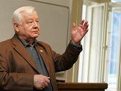 Ruský herec Oleg Tabakov měl přednášku na brněnské JAMU.