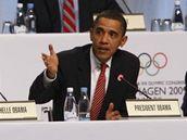 Barack Obama hovoří při prezentaci kandidatury Chicaga na olympijské hry 2016