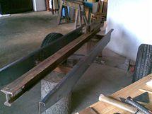 Přívěsná štípačka dřeva - stavba