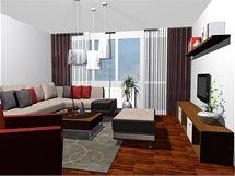 Nevkusný obývací pokoj se dočkal radikální proměny