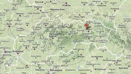 Ostrovany - mapa