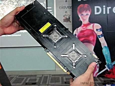 Zřejmě první fotografie Radeonu HD5970 - zdroj en.hardspell.com
