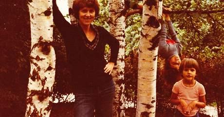 Zuzana Richterová s dětmi, rok 1982
