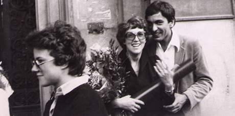 Zuzana a Aleš Richterovi, promoce ve Vídni v roce 1982