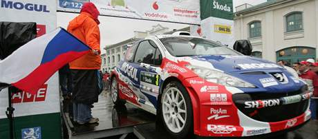 Roman Kresta na startu Rallye Bohemia