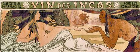 K výstavě Alfons Mucha Moravské galerie Brno - Vin des Incas (1897)